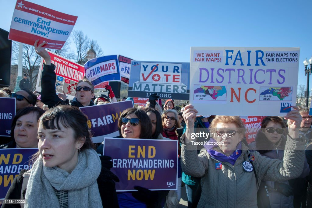 'Fair Maps' Rally Held As Supreme Court Hears Gerrymandering Case : News Photo