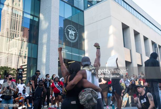 Protesters become upset and voice their opinions on the current state of police tactics and policies following a failure by Columbus Police Chief...