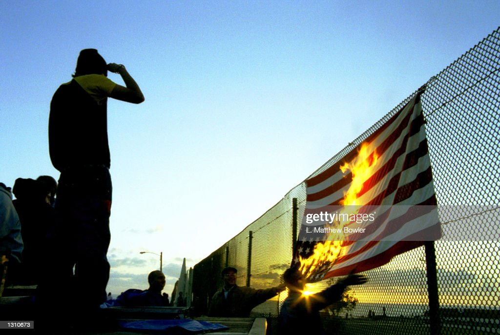 House Debates Flag Burning Amendment Pictures Getty Images