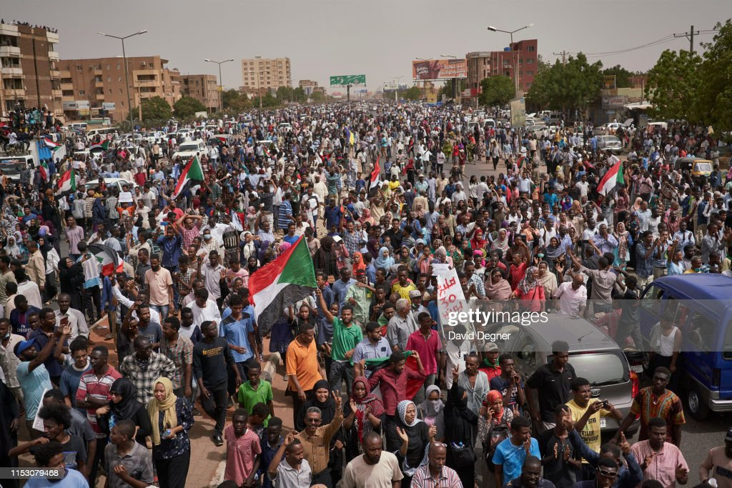 Protesters Take To Streets To Call For End Of Military Rule : News Photo