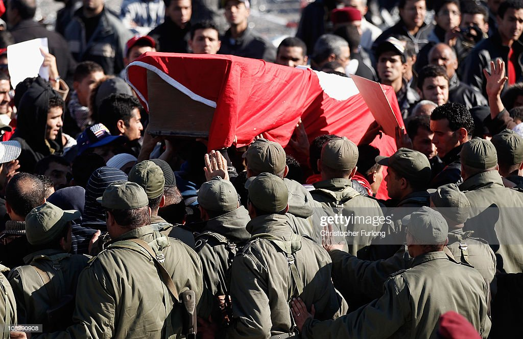 Demonstrations Continue In Tunisia As Calls Come For Dissolution Of Ruling Party : News Photo