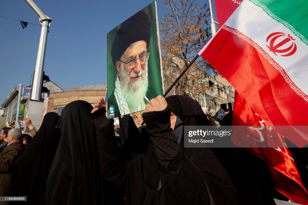 Anti-UK Protests Held Outside British Embassy After British Ambassador Briefly Detained In Tehran : News Photo