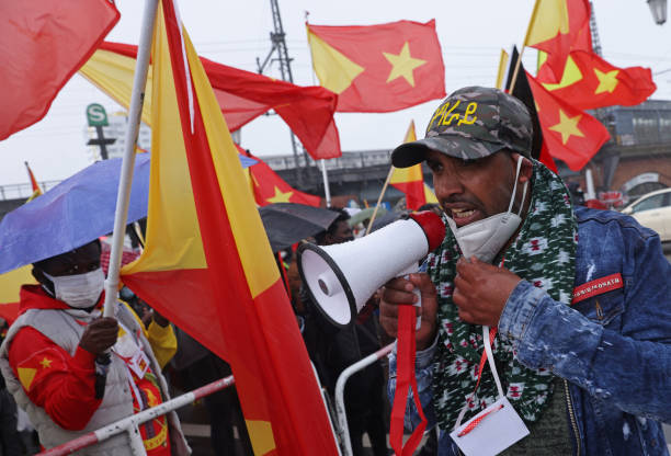 DEU: Pro-Tigray Protest Near Chinese Embassy