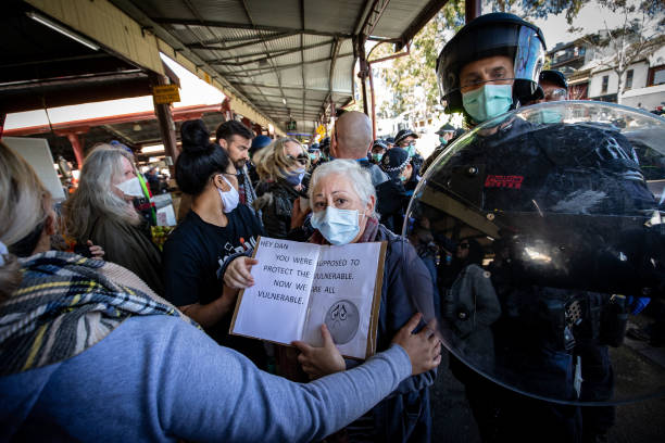 AUS: Anti-Lockdown Protesters Rally In Melbourne Despite Stage 4 Restrictions