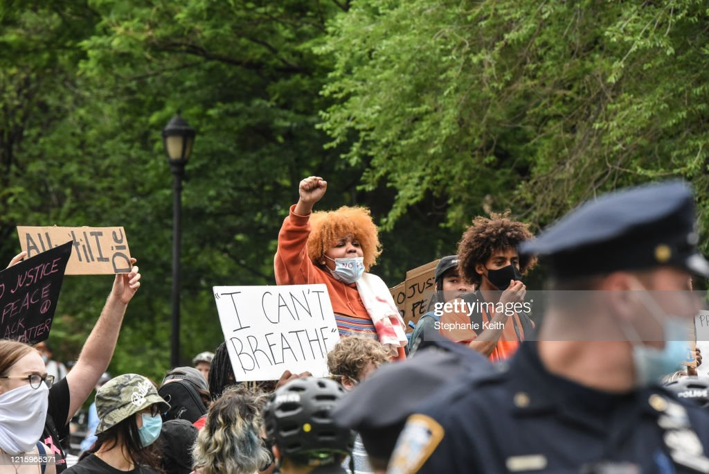 Protesters Gather In New York City To Denounce Police Killing Of Minneapolis Man George Floyd : News Photo