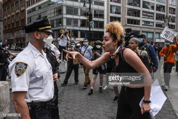 Protesters clash with police during a rally against the death of Minneapolis Minnesota man George Floyd at the hands of police on May 28 2020 in...