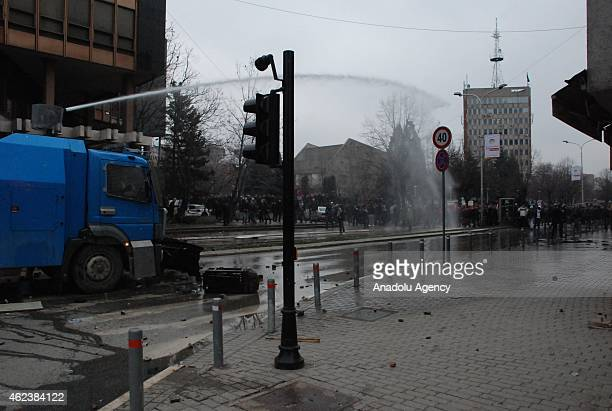 Protesters clash with riot police as they call for the dismissal of the Serb Minister Aleksandar Jablanovic and urge the government to take over...
