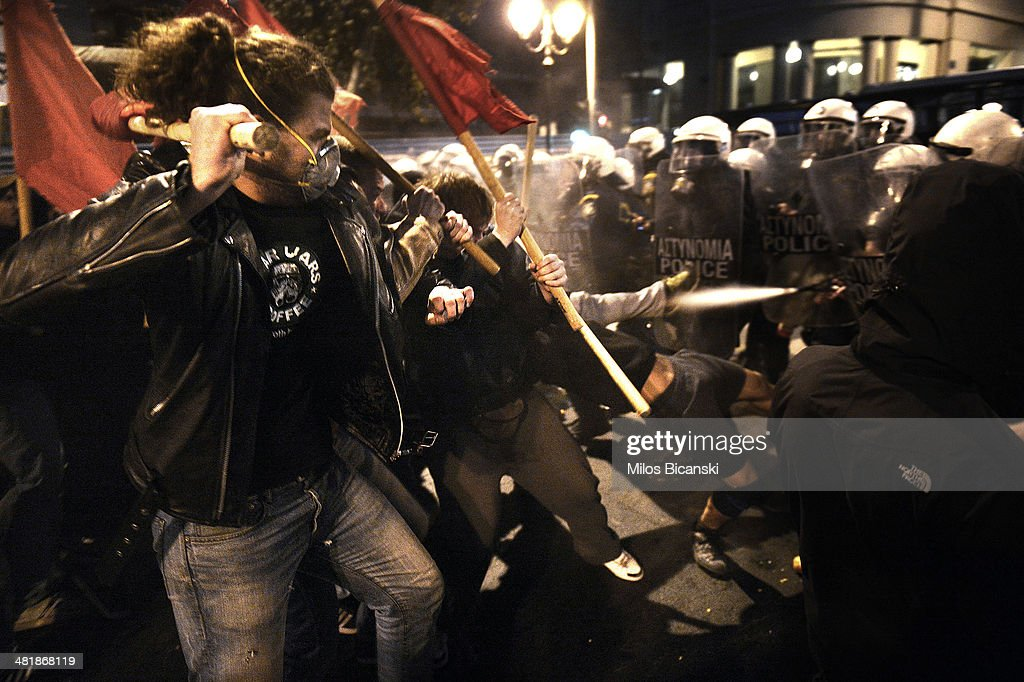 Protests Begin As Eurozone Ministers Approve Next Bailout In Greece : News Photo
