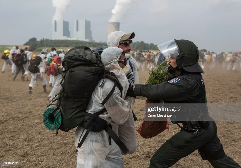 Protesters Converge On Rhineland Open-Pit Coal Mines : News Photo