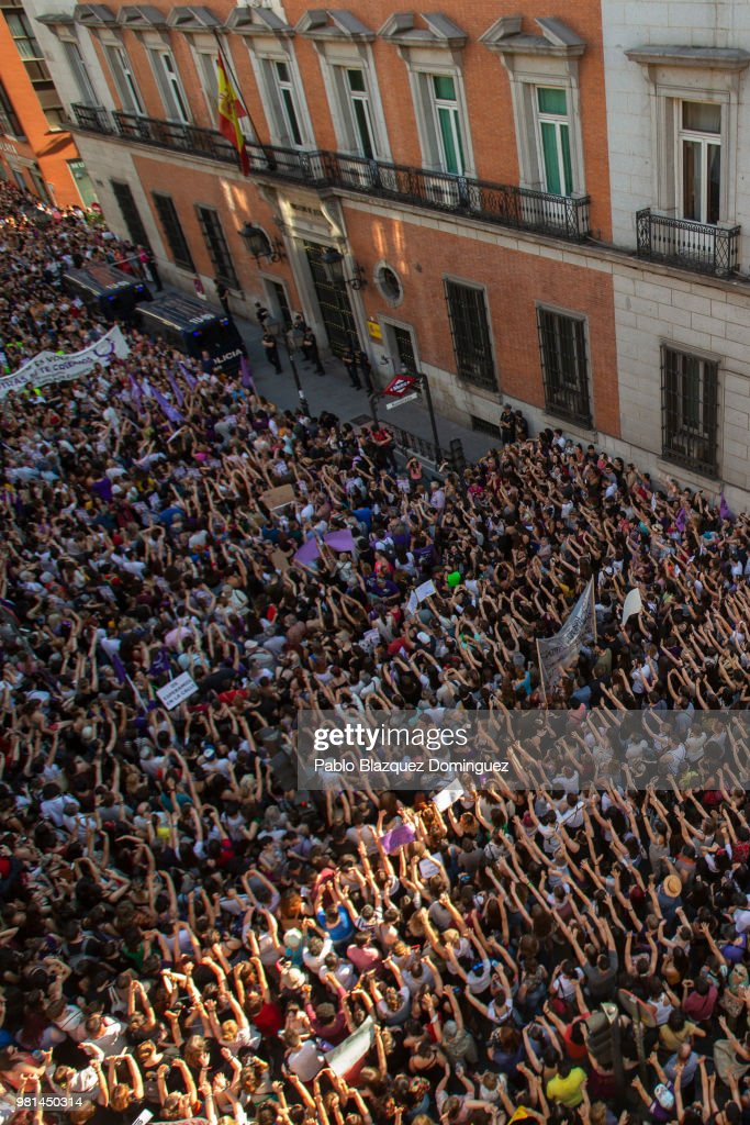 Demonstration Against The Release On Bail Of San Fermin Festival's Rape Gang Members