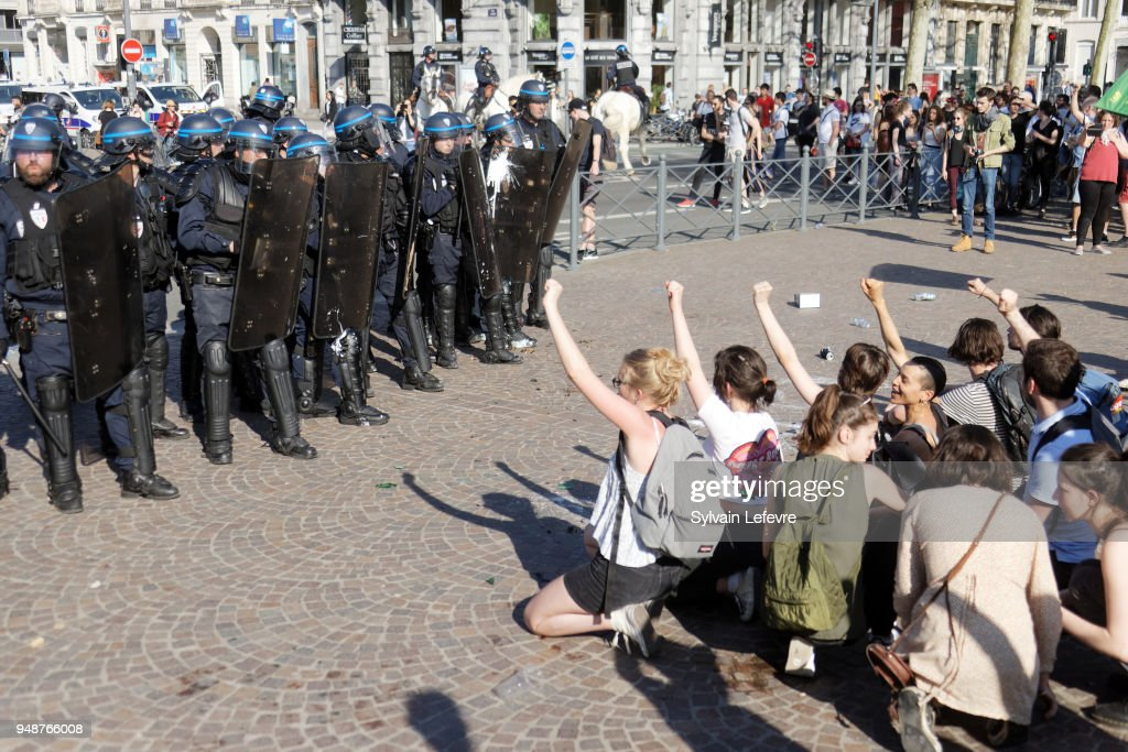 Multi Branch Protest Day Against French President's Emmanuel Macron's Policies In Lille