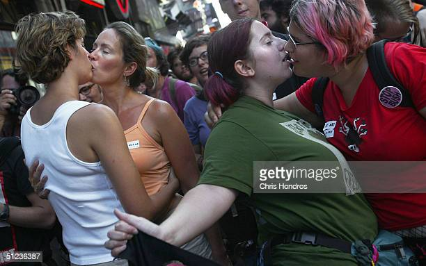 protesters demonstrate on eve of rnc - republican national convention stock pictures, royalty-free photos & images