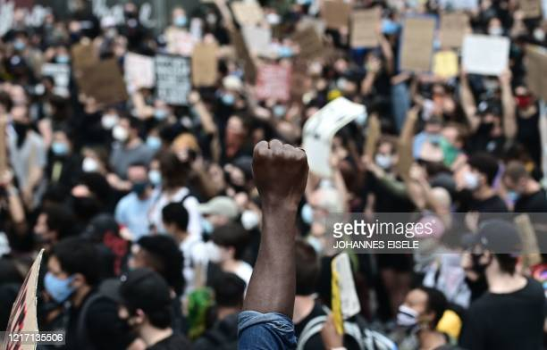 TOPSHOT Protesters demonstrate on June 2 during a Black Lives Matter protest in New York City Antiracism protests have put several US cities under...