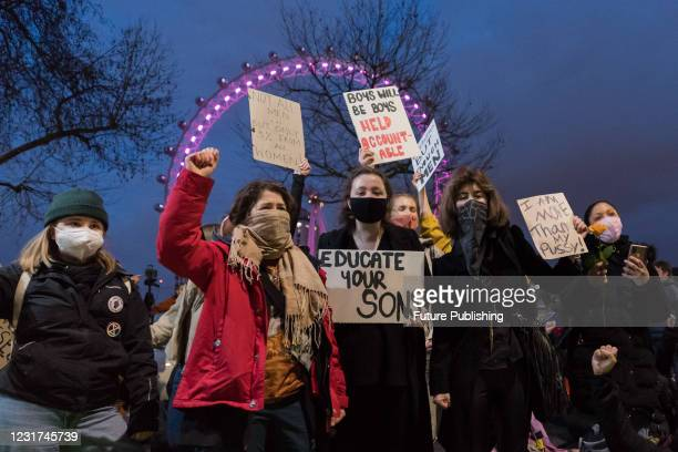 Protesters demonstrate outside the New Scotland Yard against governments proposed Police, Crime and Sentencing Bill, which would give officers and...
