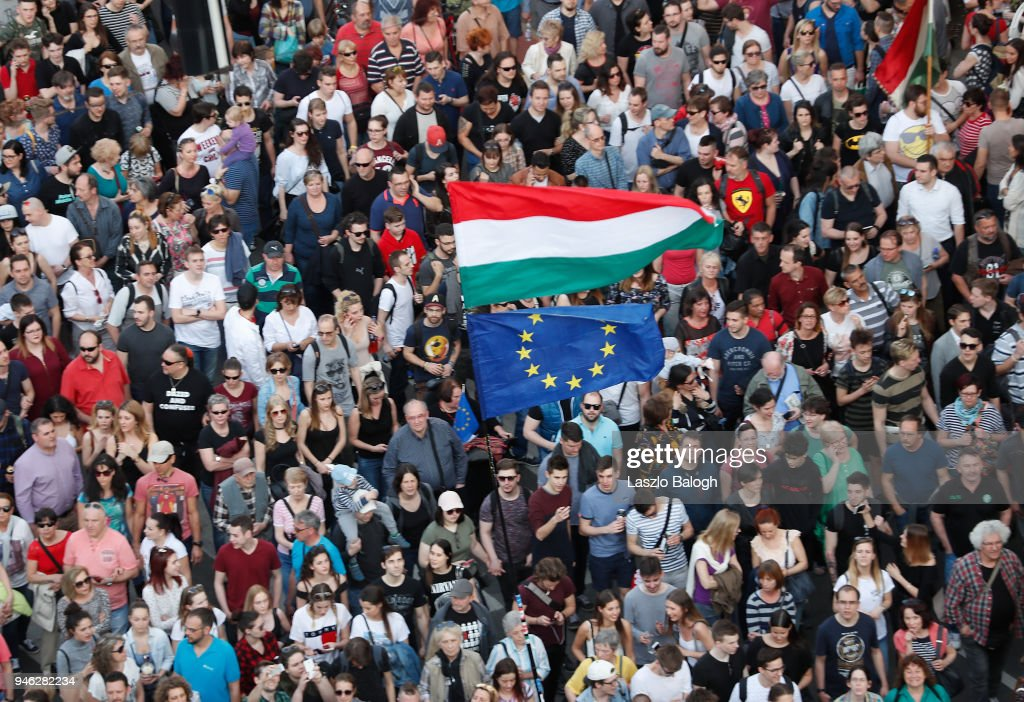Protesters Hold Anti-Government Rally In Budapest : News Photo