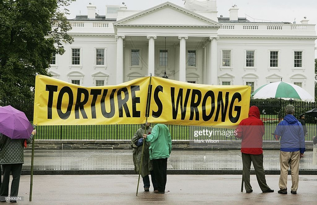 Demonstrators Protest Signing Of Military Commissions Act : News Photo