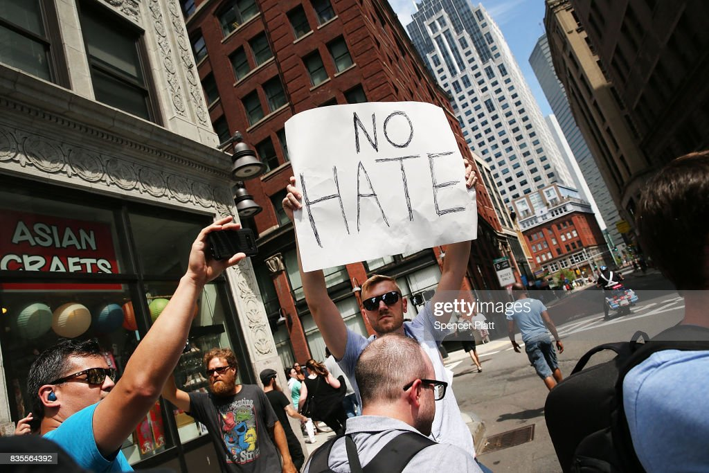 Solidarity With Charlottesville Rallies Are Held Across The Country, In Wake Of Death After Alt Right Rally Last Week : News Photo