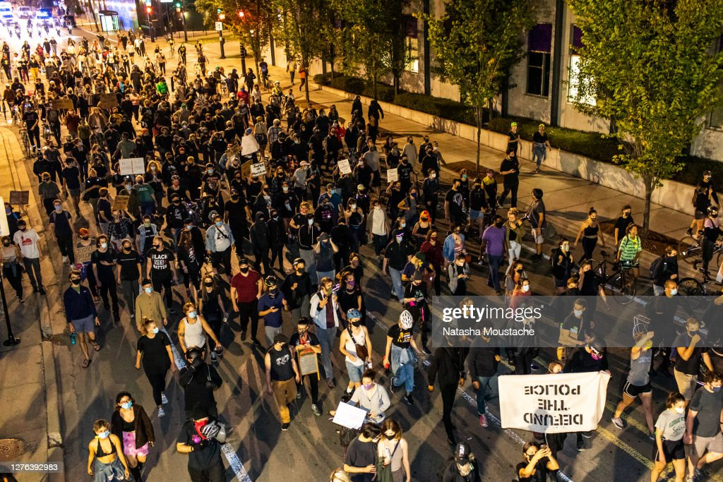 Protests Erupt Across U.S. After Charges In Death Of Breonna Taylor Are Announced : News Photo