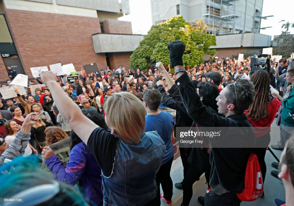 University Of Utah Braces For Protests As Right Wing Commentator Ben Shapiro Speaks On Campus : News Photo