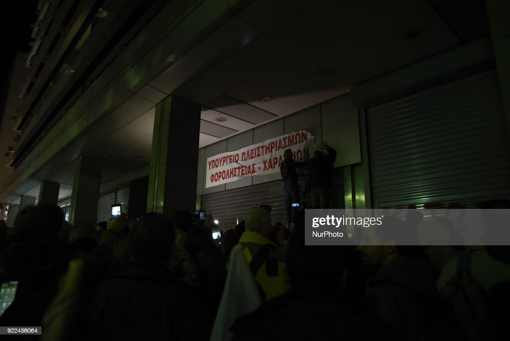 Demonstration against property foreclosure auctions : Fotografía de noticias