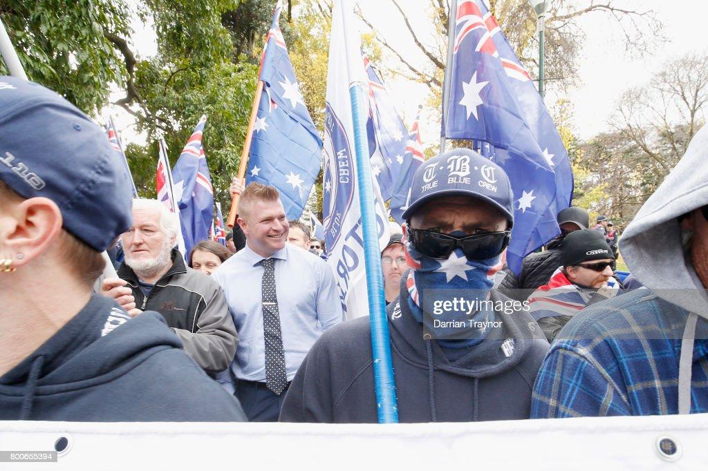Opposing Rallies Clash In Melbourne CBD : News Photo