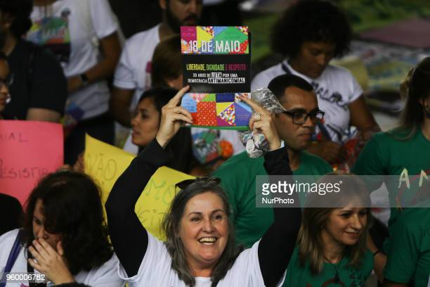 Protesters from various social movements are taking part in the National AntiManicomial Fight Day at the São Paulo Art Museum on Paulista Avenue in...