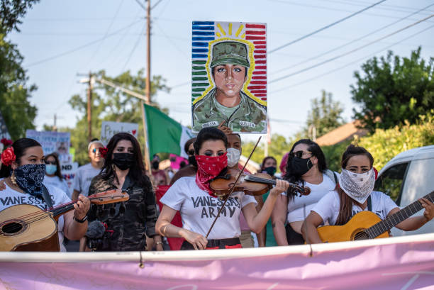 TX: March And Vigil Held In Austin In Honor Of Murdered Army Spec. Vanessa Guillen
