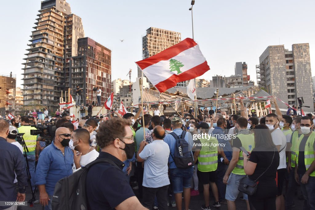 One year after the start of mass protests in Lebanon : News Photo