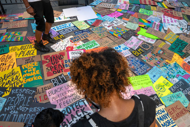 NY: Black Lives Matter Protests Continue With March For Breonna Taylor Through Midtown Manhattan