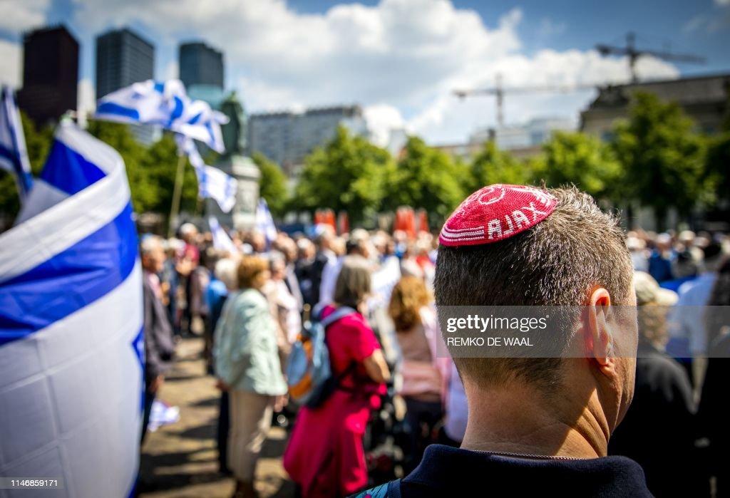 NETHERLANDS-RELIGION-JUDAISM-PROTEST : News Photo