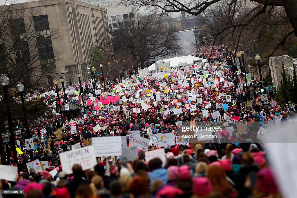 Thousands Attend Women's March On Washington : News Photo