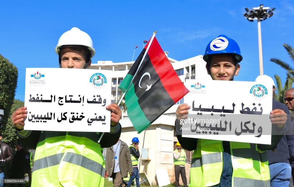 Protest against renegade commander Khalifa Haftar in Libya : Nieuwsfoto's