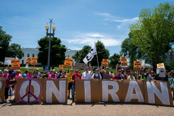 DC: Activists Protest Possible War With Iran At White House
