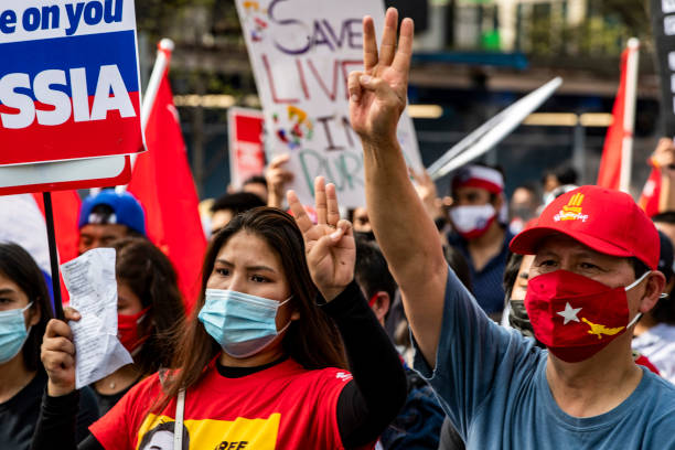 DC: Activists Demonstrate In DC Against Myanmar's Recent Military Coup
