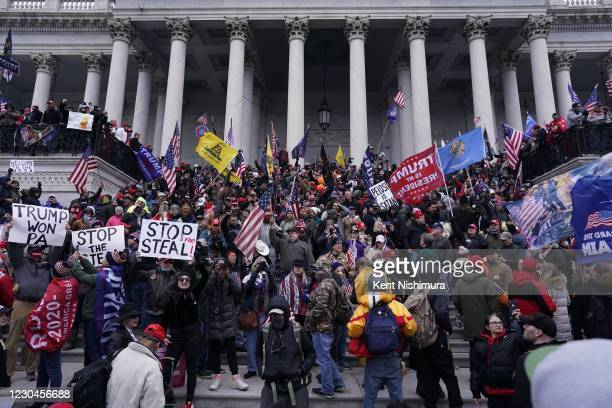 Protesters gather on the second day of pro-Trump events fueled by President Donald Trump's continued claims of election fraud in an to overturn the...
