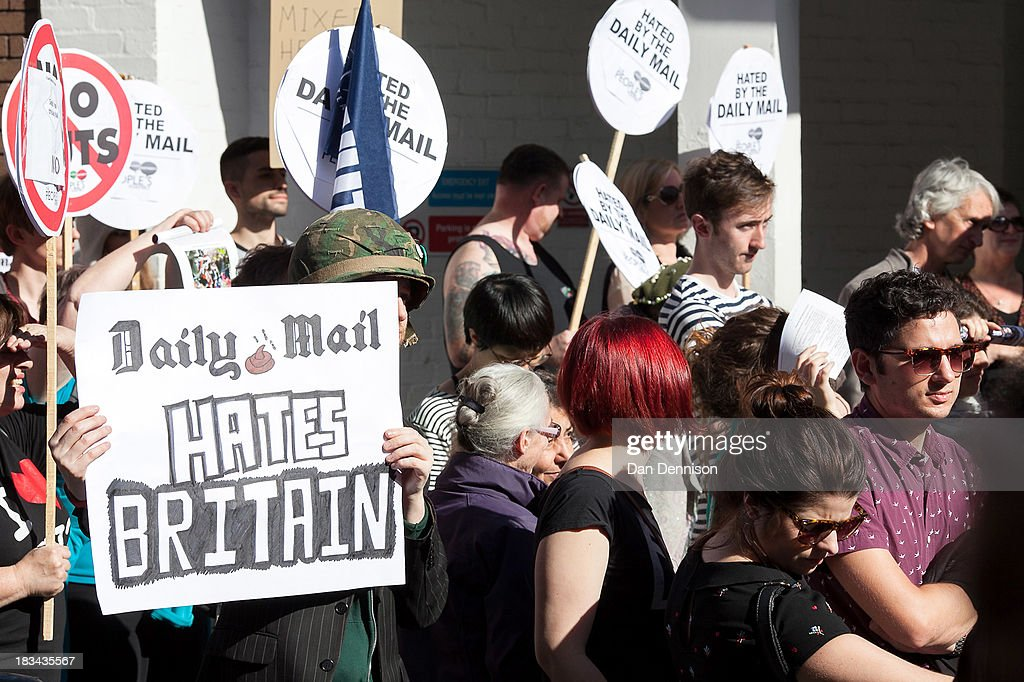 Protesters Outside The Daily Mail's Headquarters : News Photo
