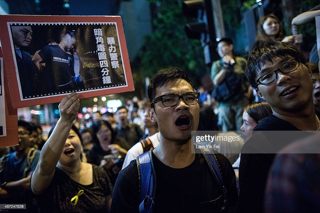 Police Move In To Clear Away Hong Kong Protest Sites : News Photo