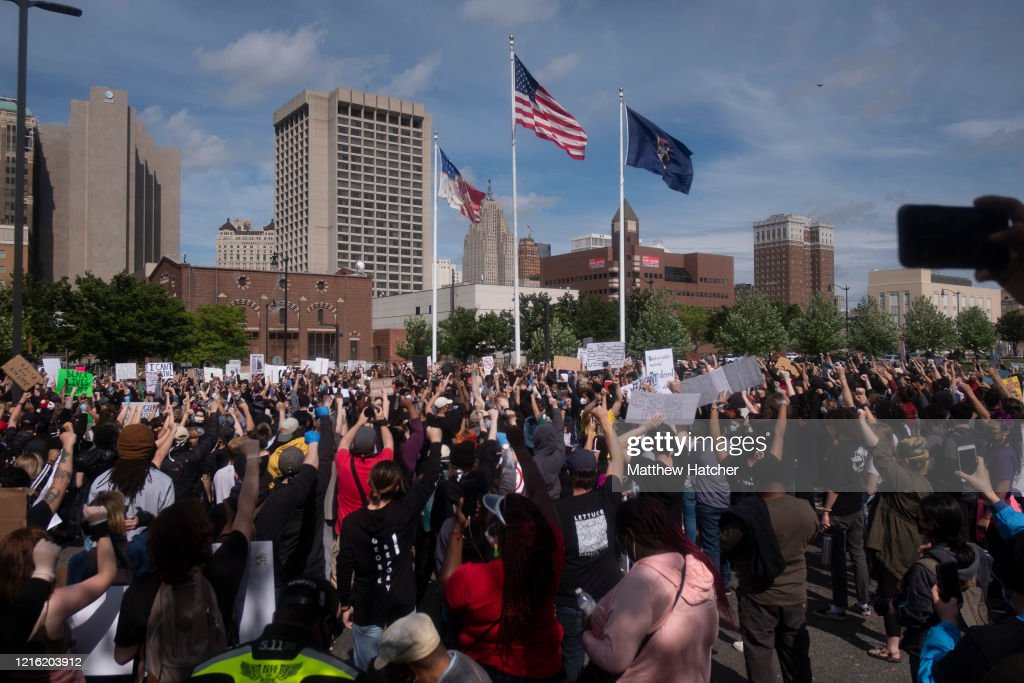 Black Lives Matter Protests Continue Around Detroit : News Photo