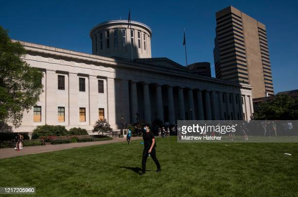 Protesters gathered on June 2, 2020 in downtown Columbus, Ohio., Ohio at the Police Headquarters, City Hall, and the Statehouse to protest Police...