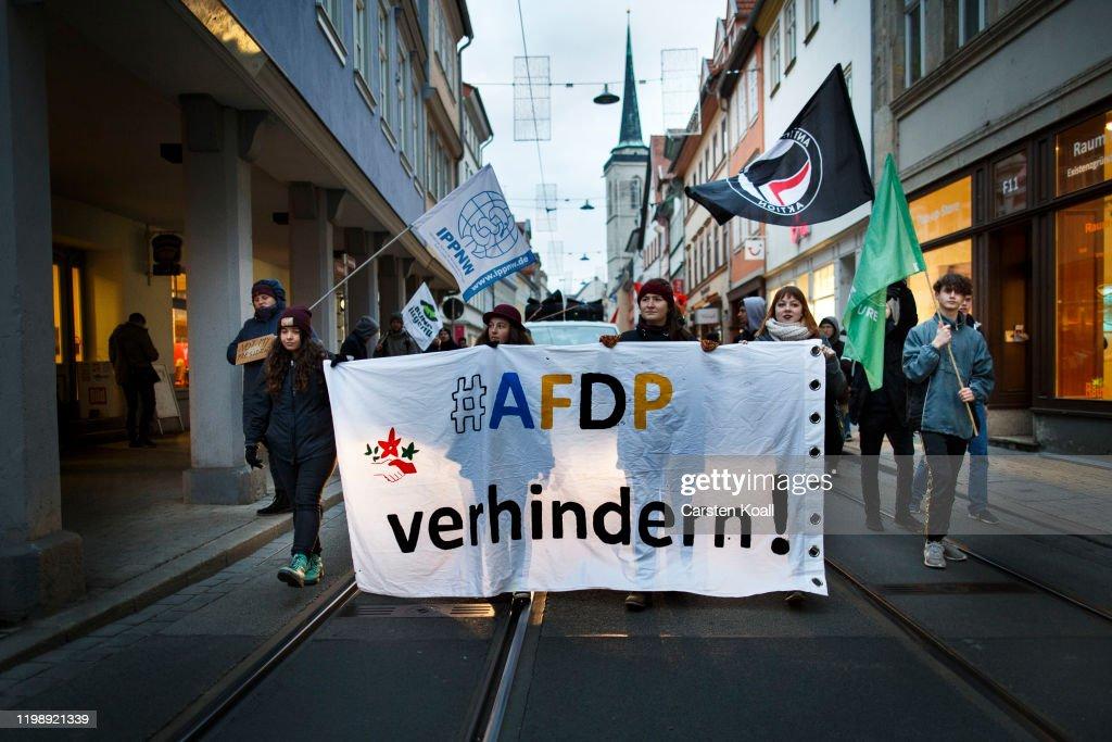 Thuringia Governor Election Causes Political Storm : News Photo
