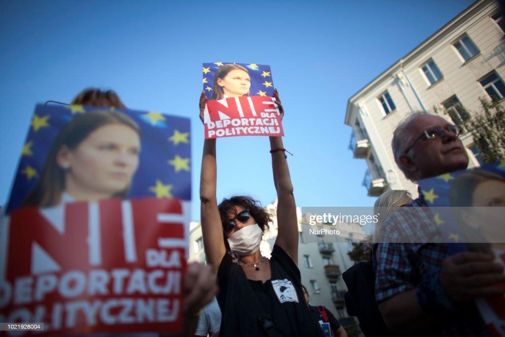 Poland Reacts After Kozlovska Deportation : News Photo