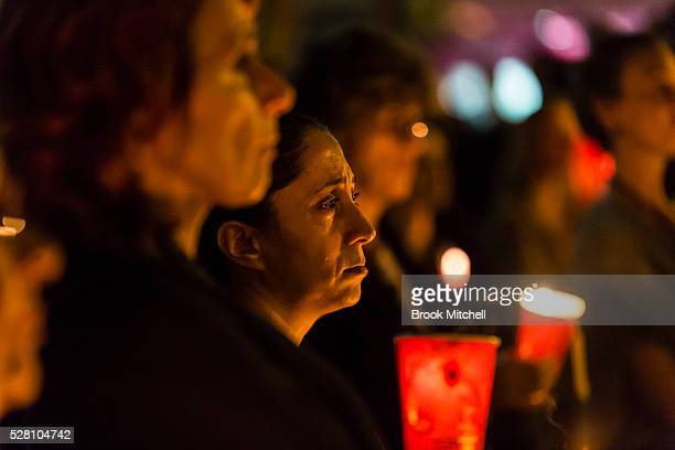 Protesters hold a vigil for Hodan Yasin at Sydney Town Hall on May 4 2016 in Sydney Australia Hodan Yasin a 21yearold Somali refugee is being treated...