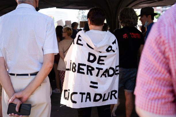 ESP: Protest Against The Restrictions Of Covid-19 In Madrid