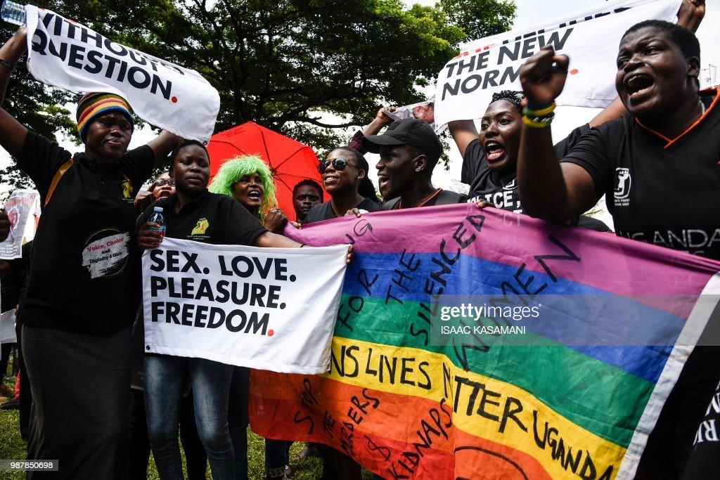 UGANDA-PROTEST-WOMEN : News Photo