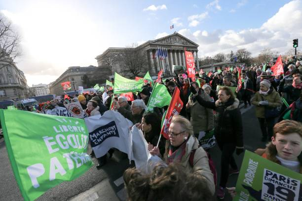 FRA: Demonstration In Paris Against The Medically-assisted Procreation