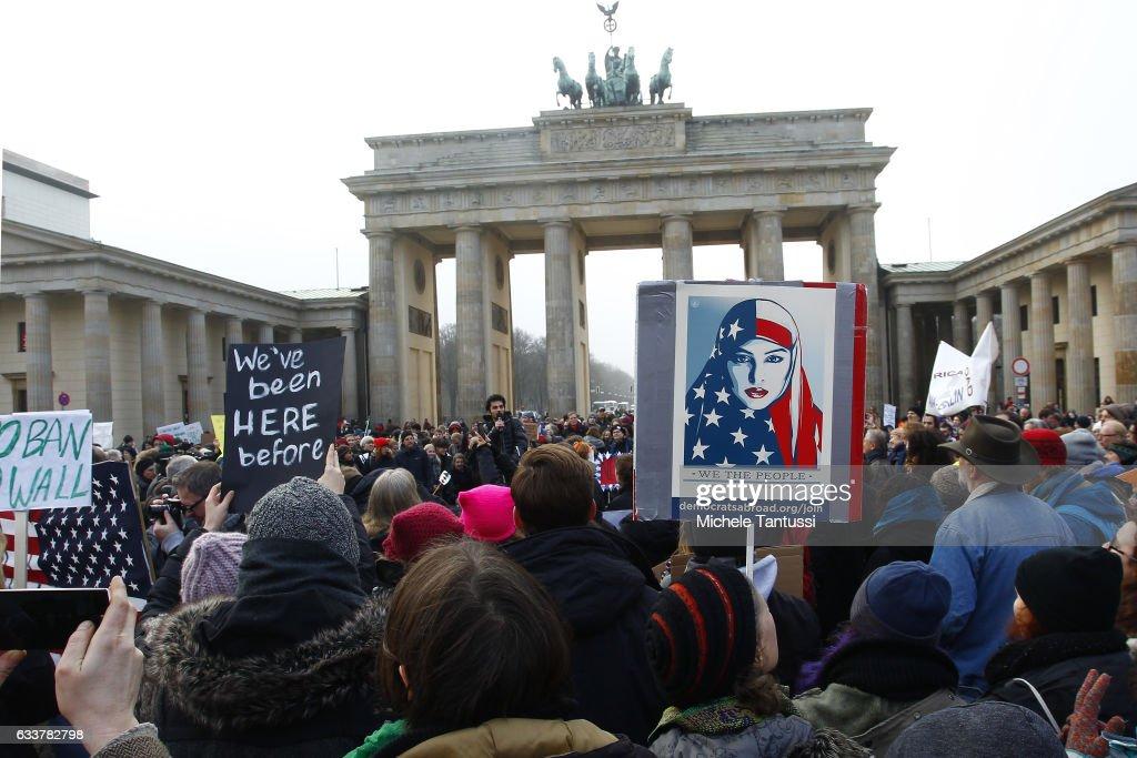 No Ban No Wall Berlin Protest : News Photo