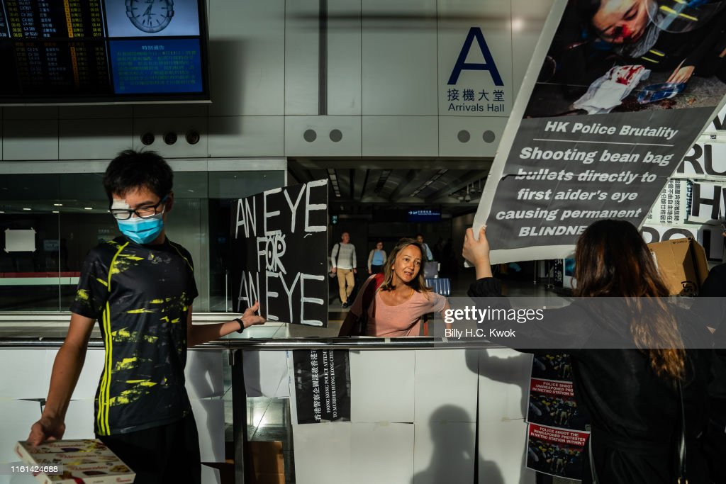 Unrest In Hong Kong During Anti-Extradition Protests : Foto di attualità