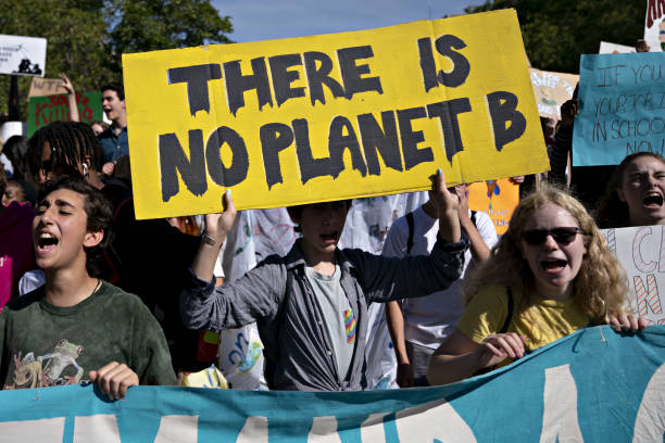 NY: Demonstrators Participate In Global Climate Strike