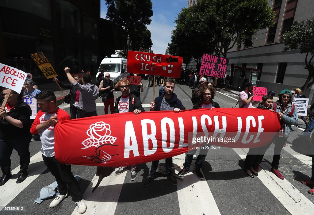 Activists Demonstrate Against Trump Administration's Zero Tolerance Policy With Separation Of Immigrant Families : News Photo