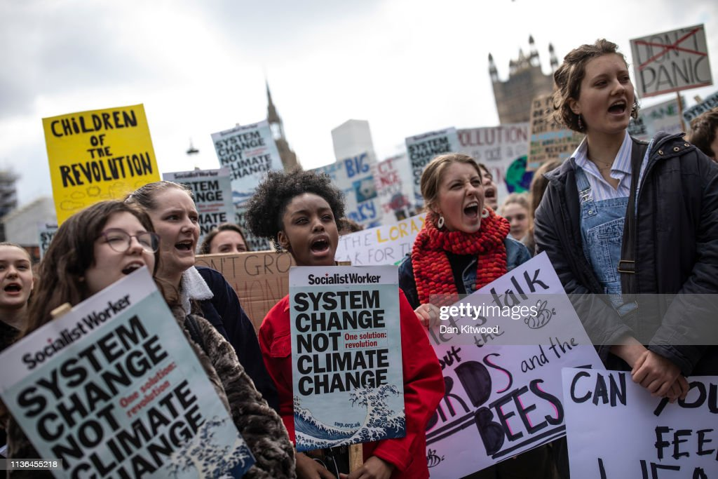 YouthStrike4Climate Takes Place Across The UK : News Photo
